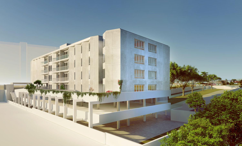 Edifício de apartamentos em Paranhos - perspectiva