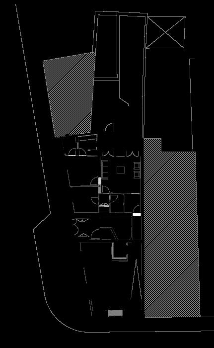 Planta do rés do chão do projecto de Aníbal Cunha