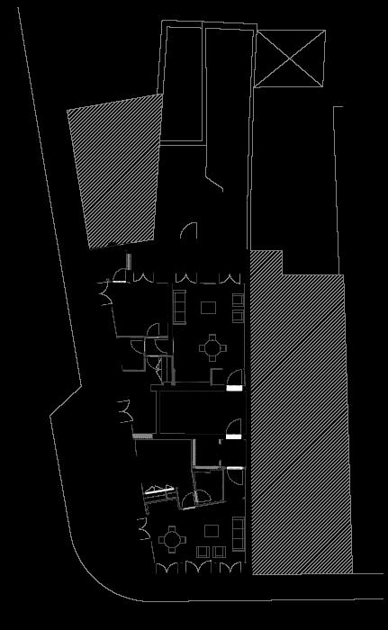 Apartamentos na Boavista - Planta do andar do projecto de reabilitação e remodelação de edifício em apartamentos na Boavista