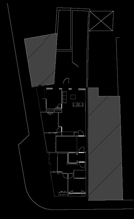 Apartamentos na Boavista - Planta do vão do telhado do projecto reabilitação e reconversão em apartamentos na Boavista