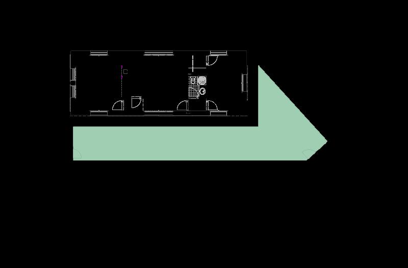 Casa na Barca Nova - Planta do piso de entrada na casa