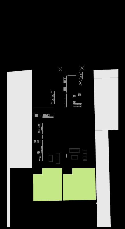 Casa em Nevogilde - Planta do piso térreo do projecto de moradia bifamiliar, em Nevogilde, Porto.