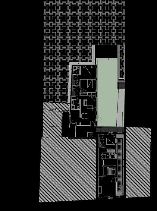Planta do rés do chão de edifício apartamentos no Bonjardim