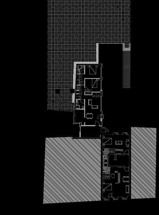 Planta do andar de edifício apartamentos no Bonjardim