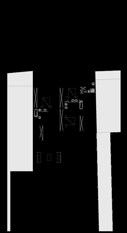 Casas em Nevogilde - Planta do piso intermédio