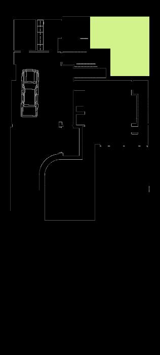 Casa na Foz - Planta do piso da garagem e sala de jogos