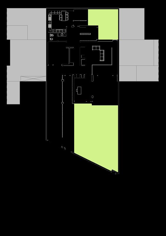 Casa na Foz - Planta do piso de entrada