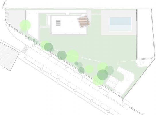 Planta de implantação de casa em Santo Tirso