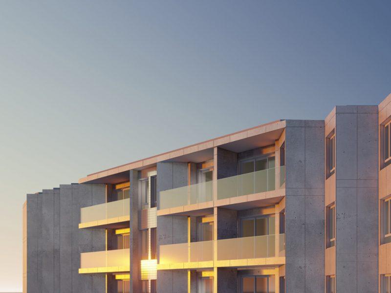 Edifício de apartamentos em Paranhos - vista nascente