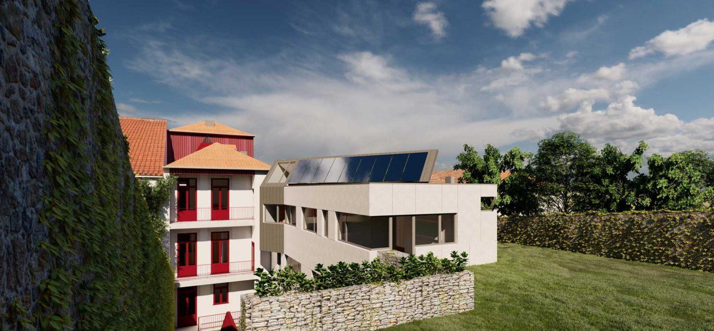 Remodelação e ampliação no Bonjardim - vista de conjunto